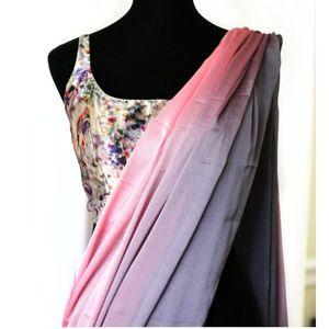 Chiffon saree with sleeveless blouse